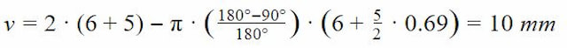 Bend allowance calculation formula