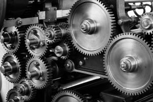 Gears made from ferrous metals
