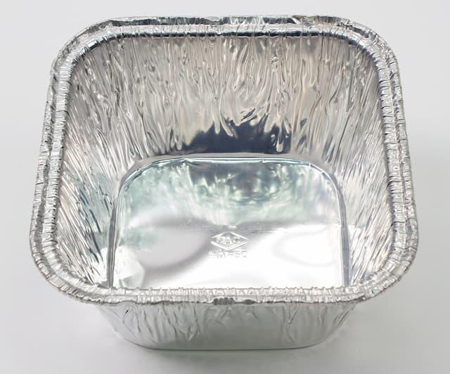 Aluminium foil fast food container