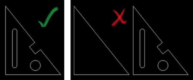Correct DXF