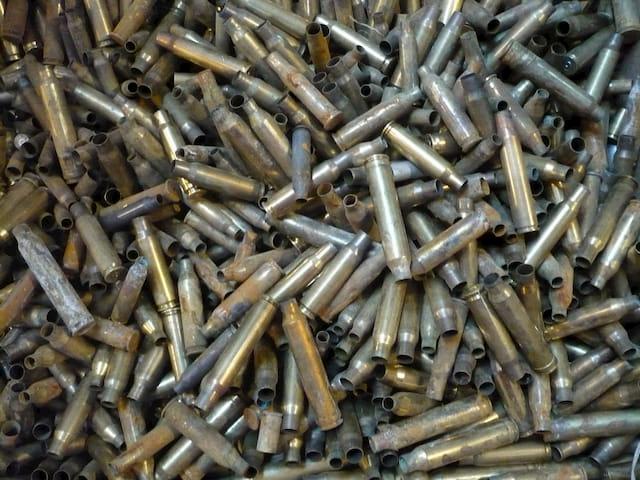 Brass ammunition shells
