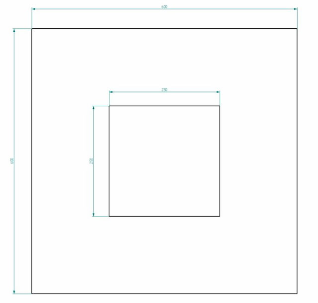 Sheet metal drawing with measurements