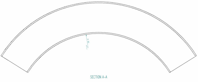 Recommended pipe radius for bending
