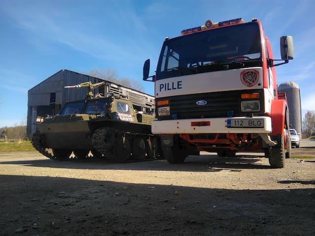 Nonprofit fire brigade trucks