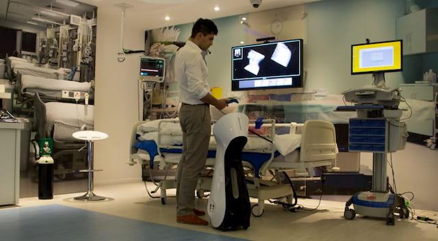 AI robot at a hospital