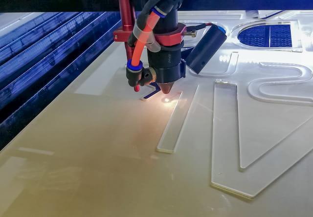 Laser Cutter Cutting PMMA