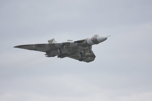 British Vulcan Bomber Flying