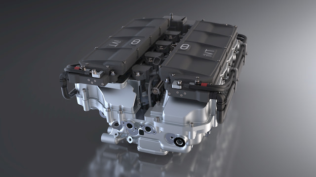 Rendered vehicle motor