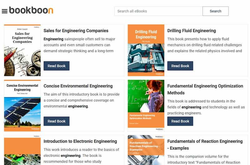 Free engineering textbooks