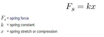hooke's law formula