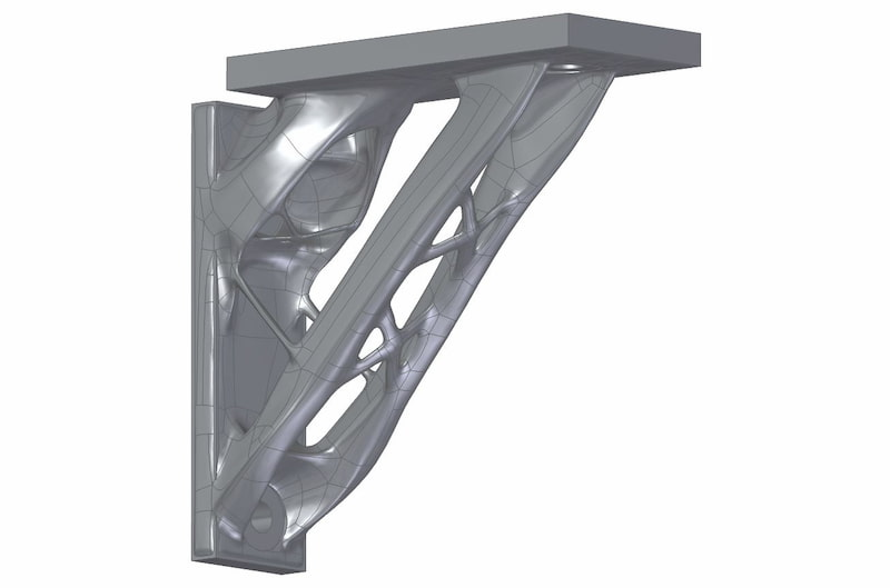 Generative design shelf bracket
