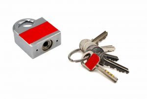 Taped keys and lock