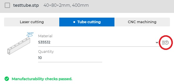 Tube cutting quote online