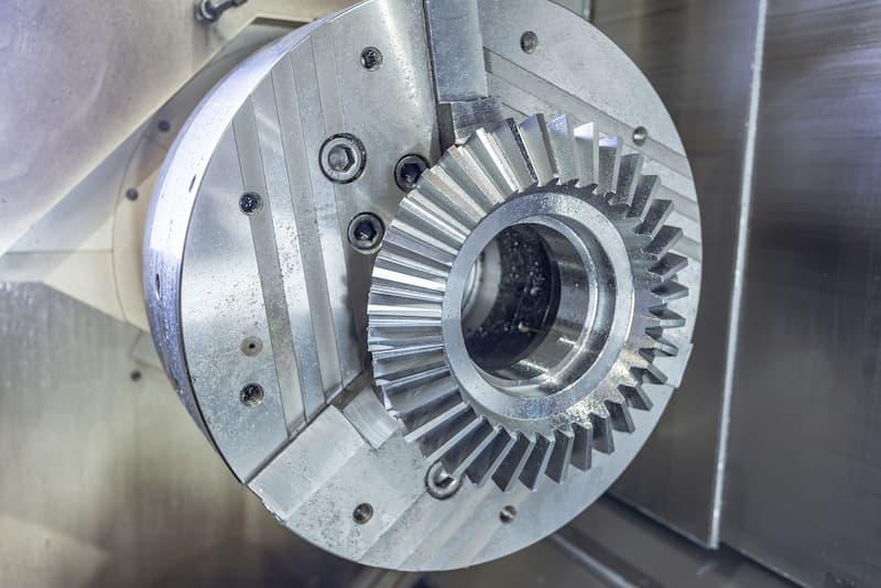 CNC machine bevel gear